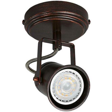 Foco Cansu marrón-dorado, GU10 LED