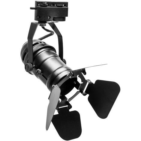 "Foco Carril ""Juniper"" 1xGU10 Negro (Sin Bombilla) [PLMP-219005] (PL-219005)"