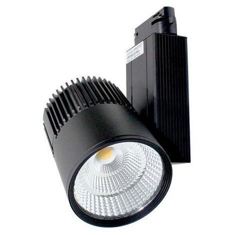Foco carril led Dori orientable luz calida Negro 30W