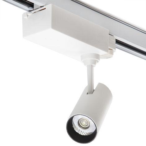 Foco Carril LED Trifásico 10W 900Lm 30.000H Lyla | Blanco Frío (J-TR10W-T-CW)