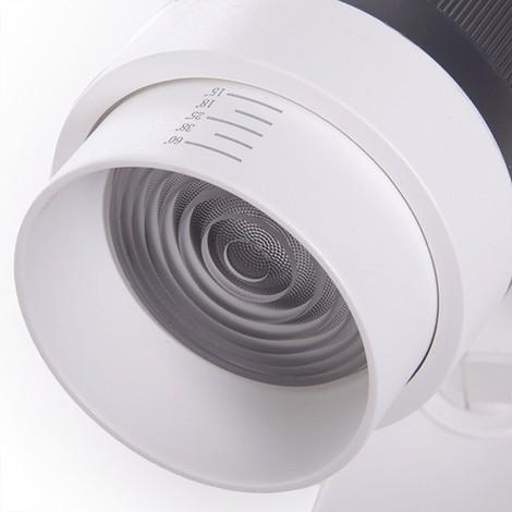 Foco Carril LED Trifásico Apertura Variable 10-60º 30W 2700Lm 50.000H Kayla | Blanco Frío (GMD-FTL03-T-30-CW)