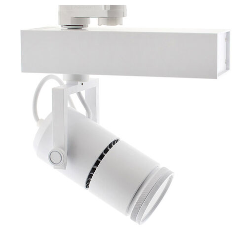 Foco carril TELESCOPIC CITIZEN LED, 28W, 10º-70º, blanco, Regulable