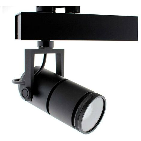 Foco carril TELESCOPIC CITIZEN LED, 28W, 10º-70º, negro, Regulable