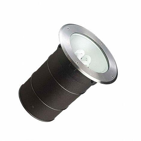 Foco Circular Empotrable en Suelo Gea E27 Casquillo Gordo IP67 LEDS-C4 55-9186-CA-37 AluminioAluminio