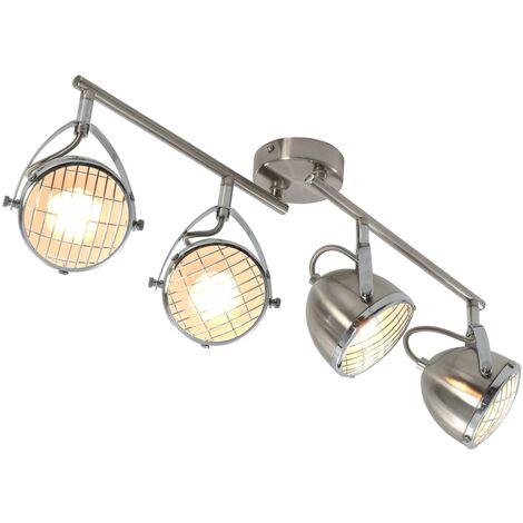 Foco de 4 luces plateado GU10