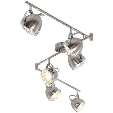 Foco de 6 luces plateado GU10