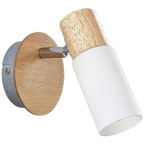 Foco de madera Christoph con bombilla LED