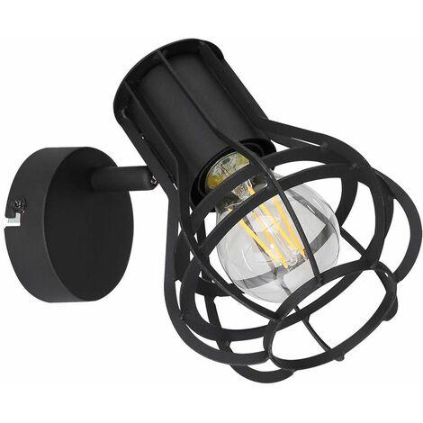 """main image of """"Foco de pared de celosía para sala de estar, filamento giratorio en un juego que incluye bombillas LED"""""""