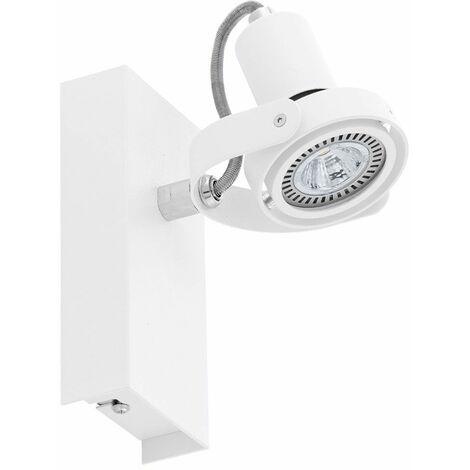 Foco de pared LED ALU blanco Spot Spot lámpara de iluminación ajustable para salón EGLO 94646