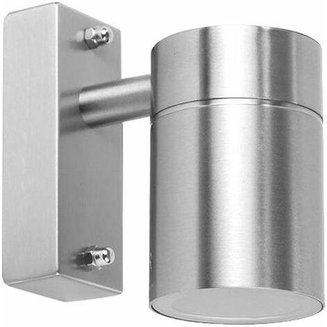 Foco de pared luz exterior acero inoxidable plata lámpara de jardín iluminación de patio Smartwares 01.586.00