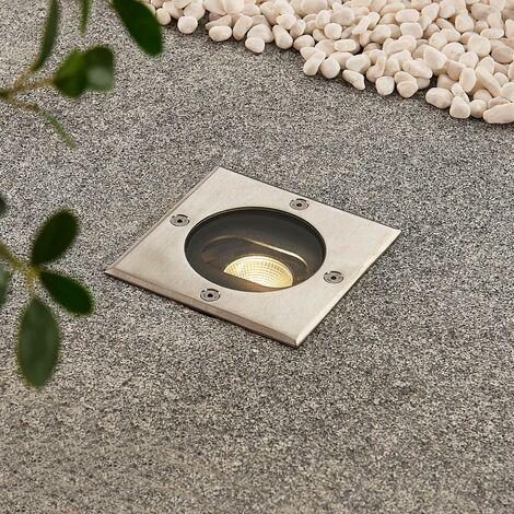 Foco de suelo LED empotrado Doris, forma cuadrada