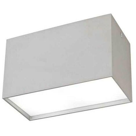 Foco de Superficie de dos luces rectangular KAILUA Plata