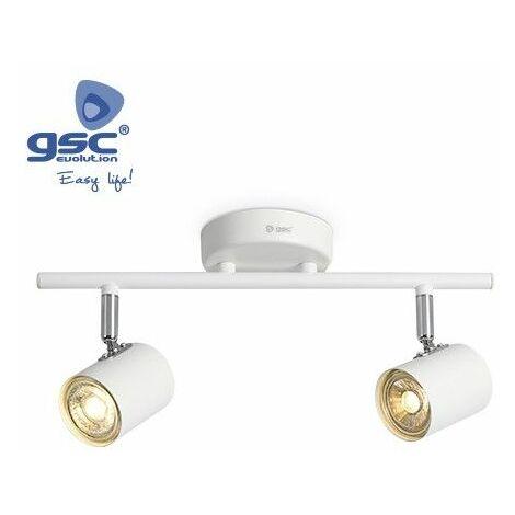 Foco de techo 2 elementos lineal GU10 Blanco GSC 001905357