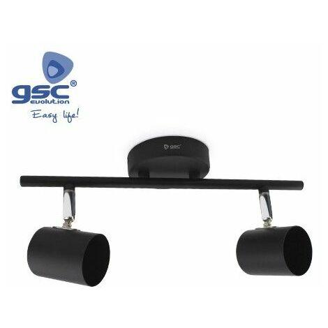 Foco de techo 2 elementos lineal GU10 Negro GSC 001905358