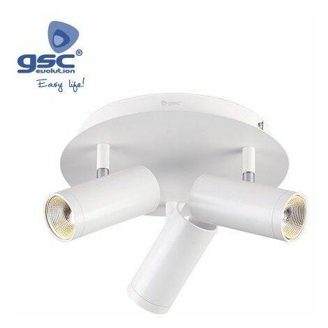 Foco de techo 3 elementos circular GU10 Blanco GSC 000705202