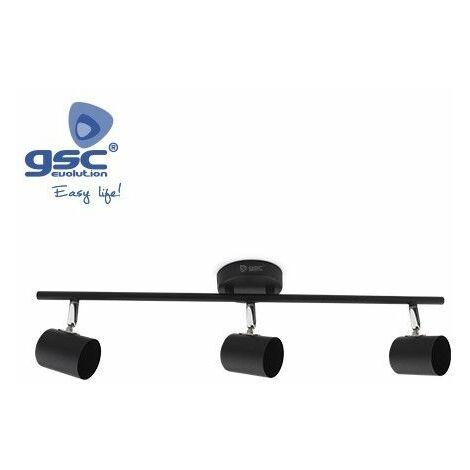 Foco de techo 3 elementos lineal GU10 Negro GSC 001905360