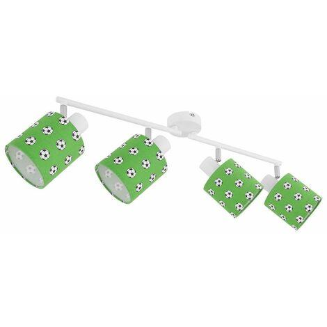 Foco de techo Barra de foco móvil verde blanco Juego de lámparas para habitación infantil con bombillas LED