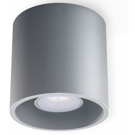 """main image of """"Foco de techo de superficie GU10 foco de techo de superficie, lámpara de techo de superficie, gris aluminio, F x Al 10x10 cm, comedor"""""""