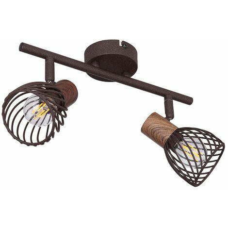 Foco de techo inteligente lámpara regulable jaula lámpara de barra de punto aplicación ajustable control de teléfono móvil incluye bombillas LED RGB