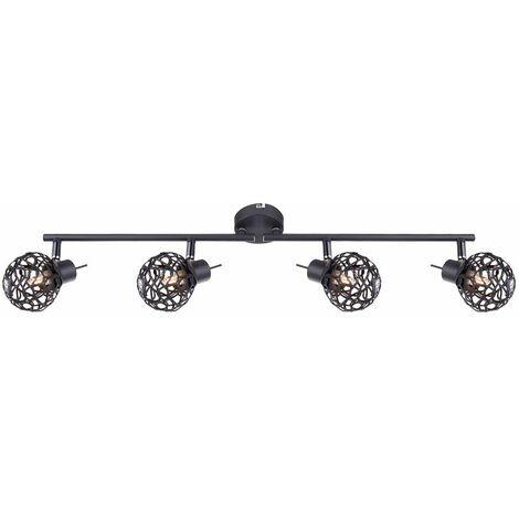 Foco de techo LED ALU lámpara trenzada barra de punto de bola ajustable cristales de luz para comedor Globo 56628-4L