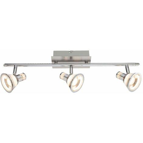Foco de techo LED barra de foco cromado salón comedor iluminación proyector móvil Globo 56956-3