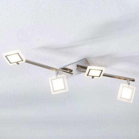 Foco de techo LED Evelina, 4 focos