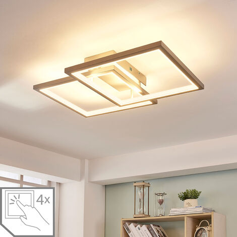 Foco de techo LED Heriba con dos marcos, atenuable
