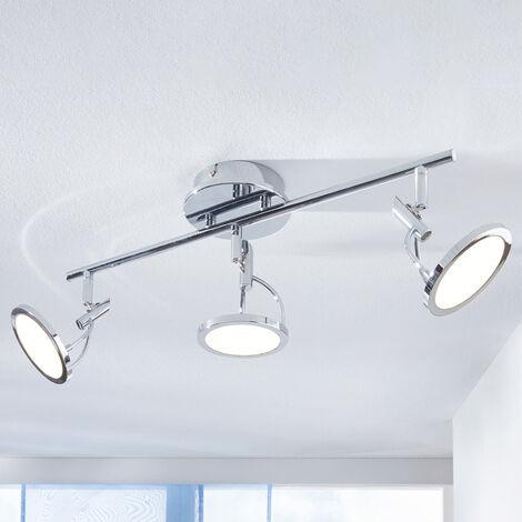 Foco de techo LED Jorne, cromo, 3 focos