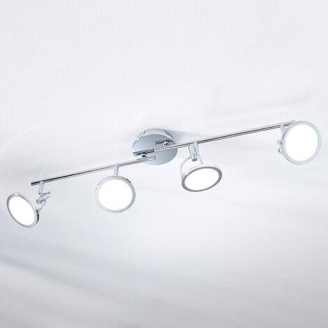 Foco de techo LED Jorne, cromo, 4 focos