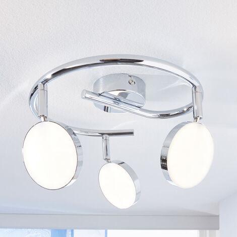 Foco de techo LED Keylan, 3 focos, circular
