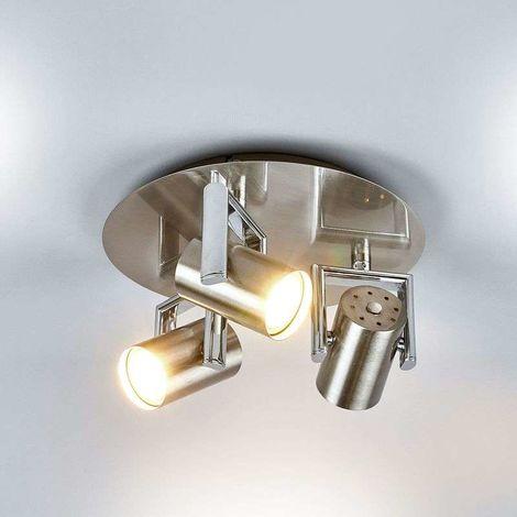 Foco de techo LED redondo Luciana, 3 luces