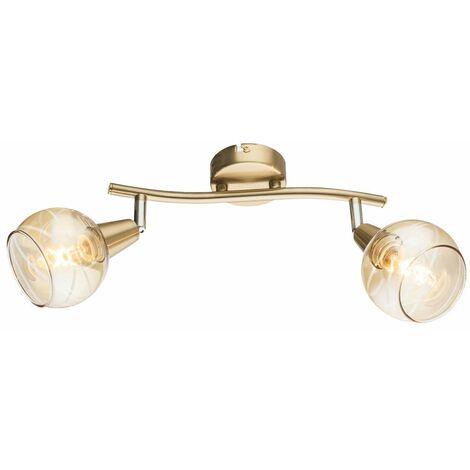 Foco de techo LED RGB inteligente móvil GOLD lámpara de punto de vidrio para sala de estar DIMMABLE aplicación de voz controlable por teléfono móvil