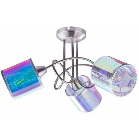 Foco de techo Rondell con foco LED RGB inteligente Lámpara de salón REGULABLE Aplicación de voz multicolor controlable a través del teléfono móvil