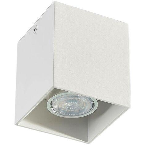 Foco de techoCarson rectangular, color blanco