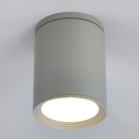 Foco de techoMinna redondo en gris plata