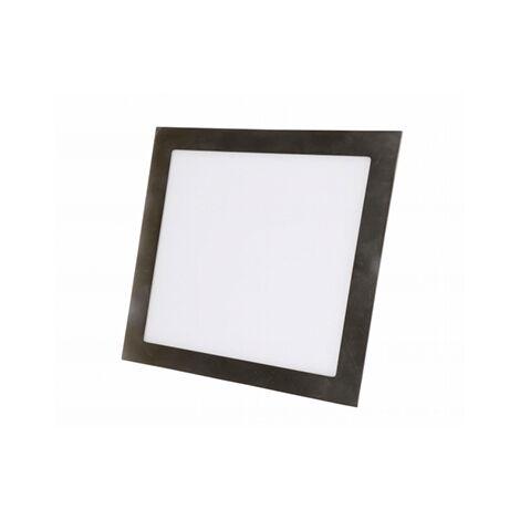 Foco downlight cuadrado níquel satinado 6W 6000k luz blanca