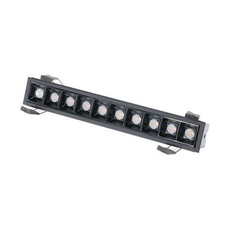 Foco Downlight LED 10W Lineal Negro Lifud 120 Lm/W CRI 90 UGR 17