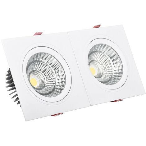 Foco Downlight LED 10W Rectangular Doble New Madison Corte 165x75 mm