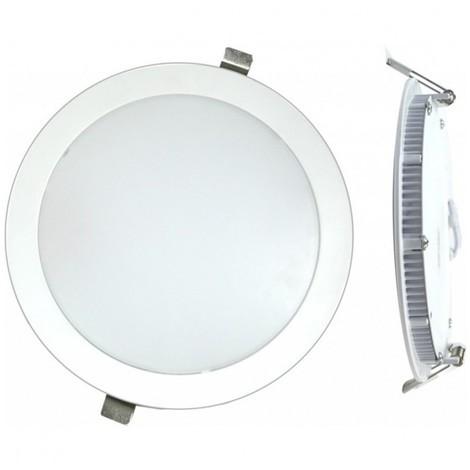 Foco downlight led 18w 6000k-bl emp plano silver elect.
