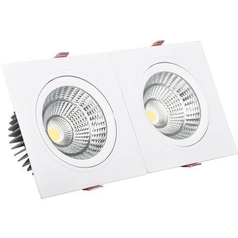 Foco Downlight LED 30W Rectangular Doble New Madison Corte 260x120 mm