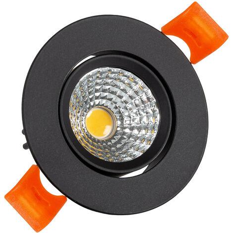Foco Downlight LED 5W COB Direccionable Circular (UGR19) Negro Corte Ø55 mm CRI92 Expert Color Blanco Neutro 4000K - Blanco Neutro 4000K