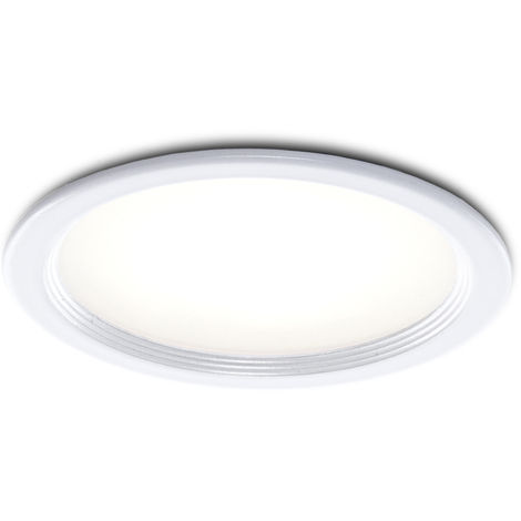 Foco Downlight LED Ø76Mm 3W 270Lm Marco Blanco 30.000H | Blanco Natural (PCE-DL3W-W-W)