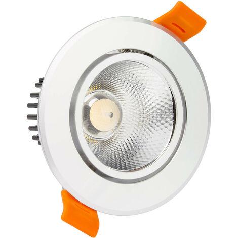 Foco Downlight LED COB Direccionable Circular 7W Plata