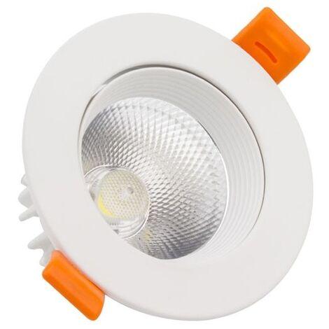 Foco Downlight LED COB Direccionable Circular 9W Blanco