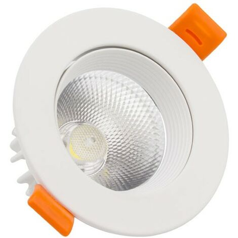 Foco Downlight LED COB Direccionable Circular 9W Blanco Corte Ø90 mm