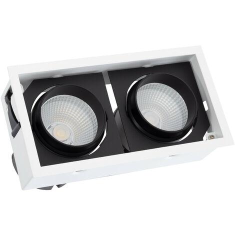 Foco Downlight LED COB Direccionable Kardan 60W LIFUD Corte 220x110 mm