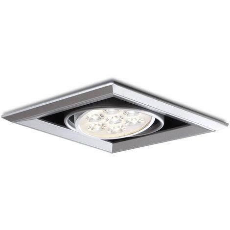Foco Downlight LED Cuadrado 7W 700Lm 30.000H | Blanco Natural (PL304040W)