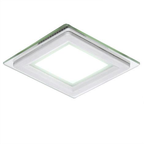 Foco Downlight LED Cuadrado con Cristal 95X95Mm 6W 450Lm 30.000H