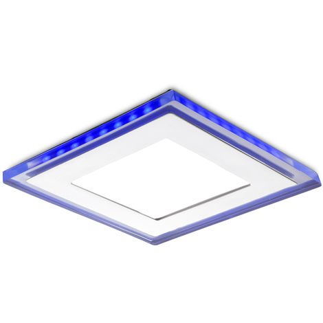 Foco Downlight LED Cuadrado con Cristal Duo (Blanco/Azul) 160X160Mm 15W 1200Lm 30.000H