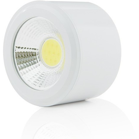 Foco Downlight  LED de Superficie COB Circular Blanco Ø68Mm 5W 450Lm 30.000H